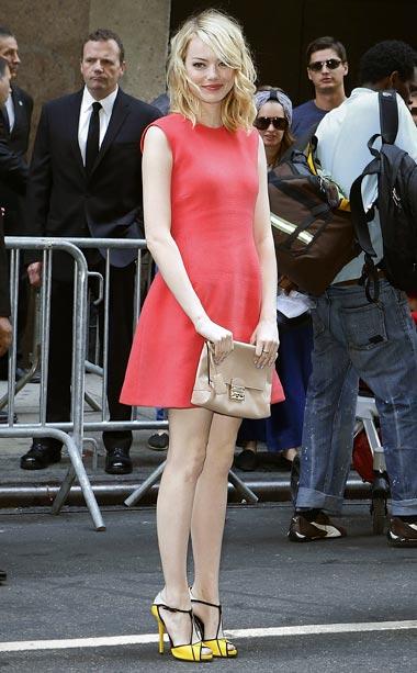 Emma Stone at Calvin Klein Collection