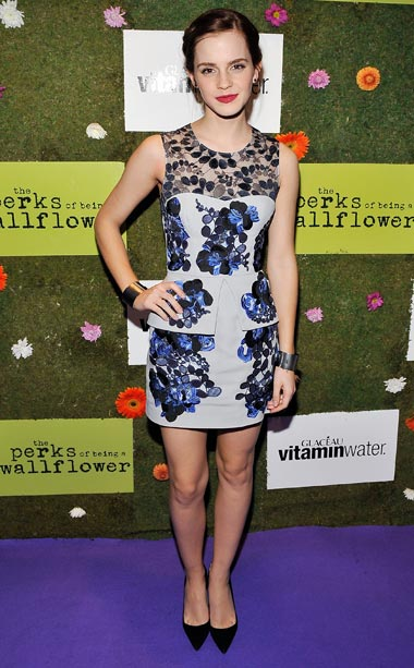 Emma Watson (in Erdem) at the premiere of Perks of Being a Wallflower