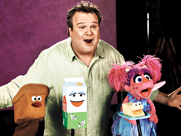 Eric Stonestreet, Sesame Street | ''It's the easiest yes to say in the business,'' the Modern Family actor tells EW after shooting a segment with Abby about the word remember…