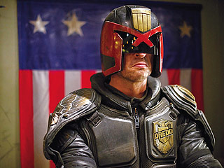 TEENAGE DREAM Karl Urban plays cop Jude Dredd after aspiring for decades for the role