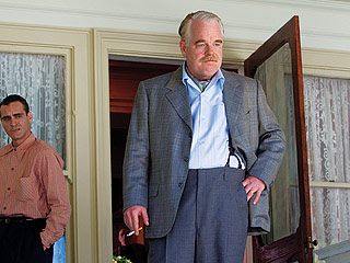 'CAUSE' I SAID SO Philip Seymour Hoffman's crackpot-charismatic Pied Piper of self-actualization Lancaster Dodd takes damaged Freddie Quell (Joaquin Phoenix, left) under his wing in…