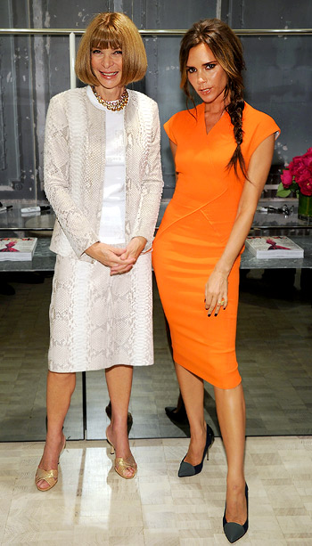 Anna Wintour and Victoria Beckham at Bergdorf Goodman's Fashion's Night Out celebration