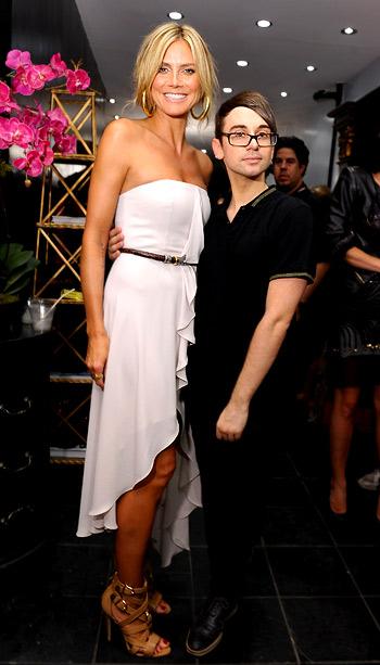 Heidi Klum and Christian Siriano at Christian Siriano's Nolita boutique opening