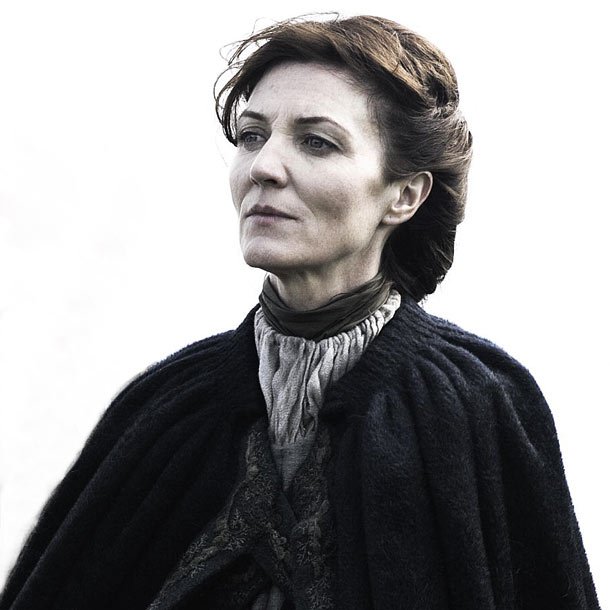 Michelle Fairley, Game of Thrones | Whose hairstyle looks deceptively simple? Michelle Fairley, who dyes her hair to play the role of Catelyn Stark, spends plenty of time in the hair…