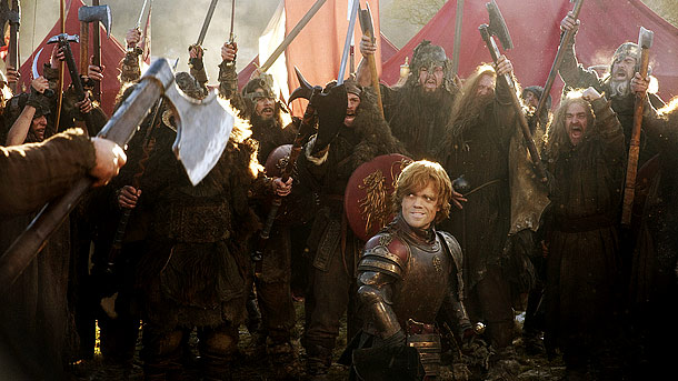 Peter Dinklage, Game of Thrones | How many hairstylists work on the epic battle scenes? As many as 25 hairstylists coif the principal actors and extras, depending on the size of…