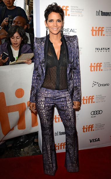 Halle Berry (in Roberto Cavalli) at the premiere of Cloud Atlas