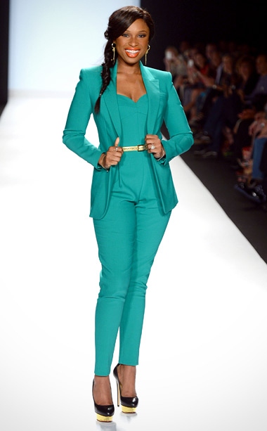 Jennifer Hudson at the Project Runway season 10 finale show