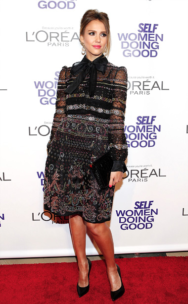 Jessica Alba at the Self Women Doing Good Awards in New York City