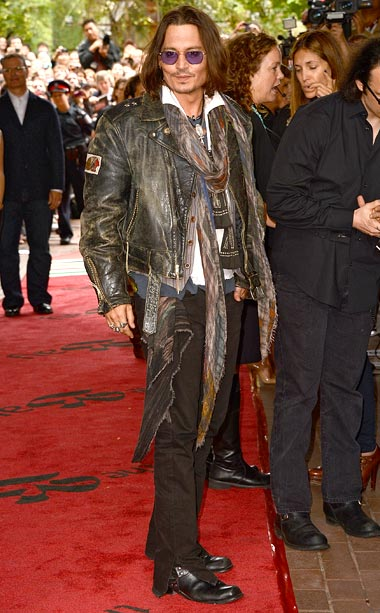 Johnny Depp at the premiere of West Of Memphis