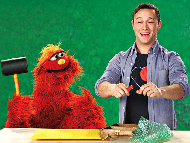 Joseph Gordon-Levitt, Sesame Street | The Looper star (who — awwww! — brought along his mom) got quite a primal rush while teaching the word reinforce to Murray. ''There's a…