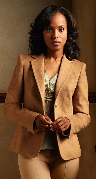 The political fixer (Kerry Washington) knows how to work a white suit (or a white lace panty and bra set). But it's her confidence —…