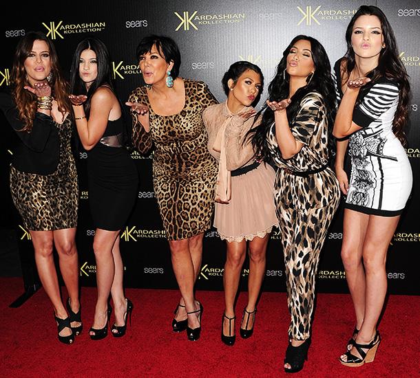 Kim Kardashian | At the launch of Sears' Kardashian Kollection, Kim, sister Khloe, and mom Kris unleashed some over-the-top animal prints.