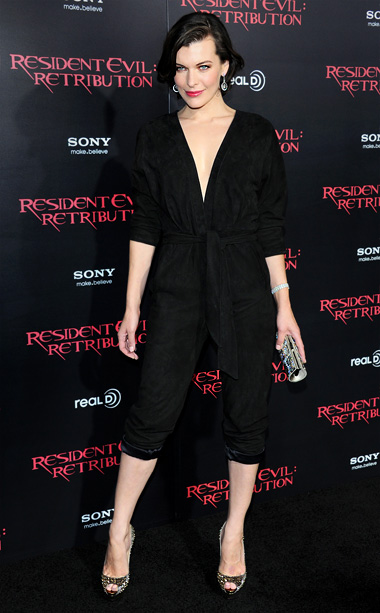 Mila Jovovich at the Hollywood premiere of Resident Evil: Retribution