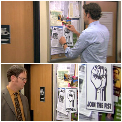 The Office | ''Dwight K. Schrute, (Acting) Manager'' (season 7, episode 24) When Dwight takes over as acting manager of the Scranton branch, Jim posts flyers around the…