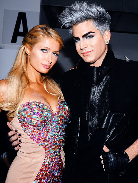 Sept. 11: Paris Hilton and new-look Adam Lambert at ''Made Presents the Blonds SS13 Runway'' during N.Y. Fashion Week.