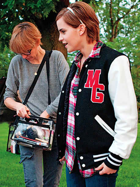 Emma Watson, The Perks of Being a Wallflower | Robinson used Wallflower writer-director Stephen Chbosky's own letterman jacket as the model for the ones seen on the film's characters. ''Sam wears it throughout the…