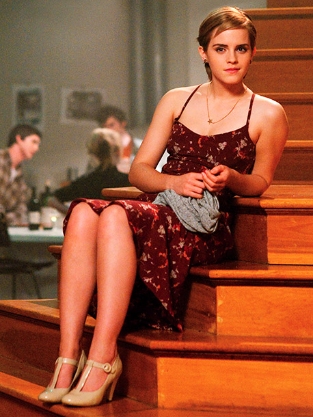 Emma Watson, The Perks of Being a Wallflower | ''[Emma] is tiny, so everything had to be called down,'' Robinson says of tailoring pieces like this vintage silk frock to look like it was…