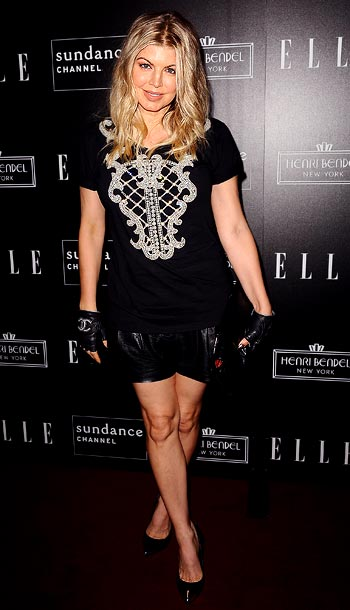 Fergie at the Elle and Sundance Channel's All on the Line with Joe Zee celebration in West Hollywood