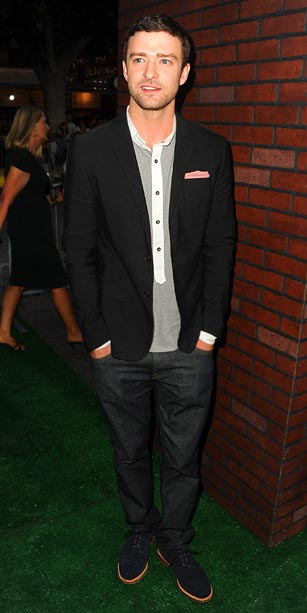 Justin Timberlake at the Trouble With The Curve premiere in Los Angeles