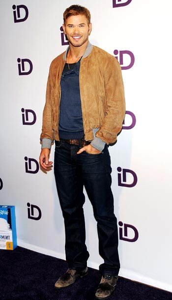 Kellan Lutz at the iD Gum launch in New York City