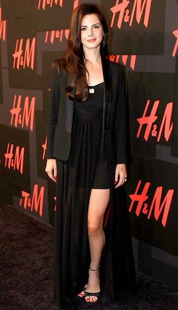 Lana Del Rey at H&M's private concert in New York City