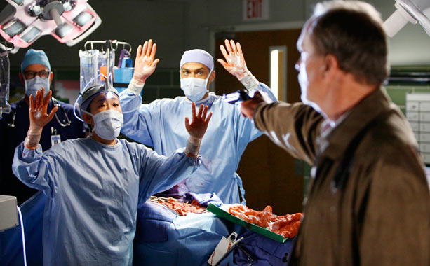 Grey's Anatomy (Season 6 -- Episode 23 and 24: Sanctuary/Death and All His Friends))   What happened before: In episode 19, Dr. Webber, Derek, and Lexie treat a cancer patient who ends up dying. Her husband, full of grief, will…