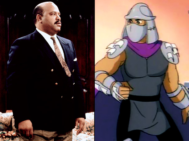 Teenage Mutant Ninja Turtles | 10. Shredder's voice is scary, not lovably gruff. And yet the Turtles' main enemy was voiced by James Avery, who also played Uncle Phil on…
