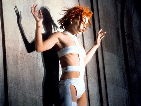 The Fifth Element, Milla Jovovich | Designer: Jean Paul Gaultier For his futuristic sci-fi thriller, director Luc Besson hired French provocateur Jean-Paul Gaultier, who famously created Madonna's cone bra, to design…