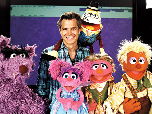 Timothy Olyphant, Sesame Street | Surprised to see the usually stony Justified star smiling? He wasn't the only one who couldn't keep a straight face when acting opposite the Sesame…