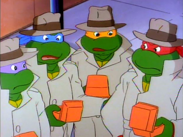 Teenage Mutant Ninja Turtles | 2. Those colored masks were a really effective disguise. Especially when paired with kicky fedoras and khaki trench coats.