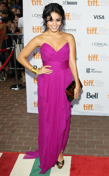 Vanessa Hudgens (in Notte by Marchesa) at the premiere of Spring Breakers
