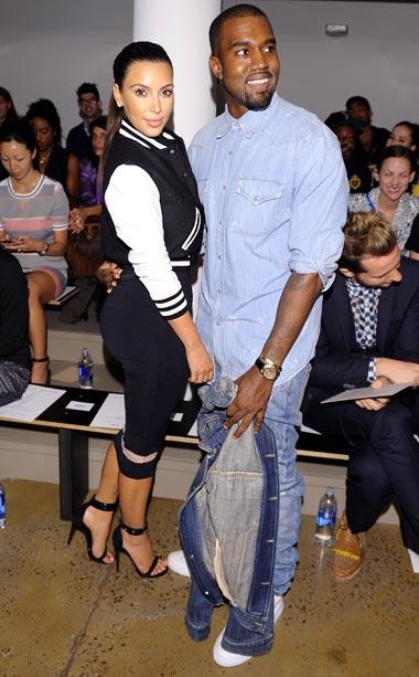 Kanye West and Kim Kardashian at Louise Goldin