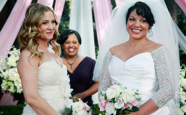 Grey's Anatomy   What happened before: The car wreck that nearly killed Callie. In this episode: Arizona and Callie get hitched! It doesn't go quite as planned, but…