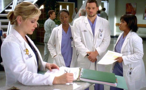 Grey's Anatomy (Season 5 -- Episode 11: Wish You Were Here)   What happened before: Callie began a relationship with heart surgeon Hahn, but cheated on her with Mark. (It was a confusing time for Callie.) Hahn…