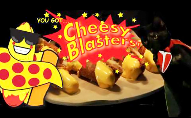 Cheesy Blasters noun One of Lemon's favorite snacks — and America's top-selling food in America outside New York City — consisting of hot dogs stuffed…