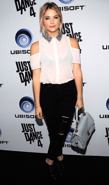 Ashley Benson at the launch of Just Dance 4 presented by Ubisoft in Los Angeles