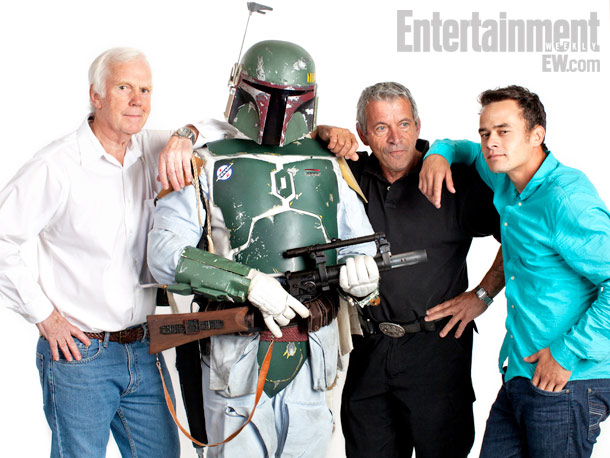 Jeremy Bulloch, Dickey Beer, and Daniel Logan ''One guy came up to me and said, 'Could you sign your name on my arm?' So I…