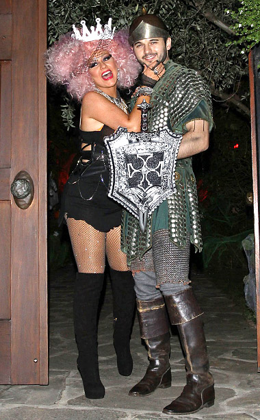 Christina Aguilera and boyfriend Matthew Rutler at a party in Los Angeles