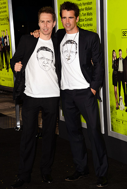 Sam Rockwell and Colin Farrell at the premiere of Seven Psychopaths in Los Angeles