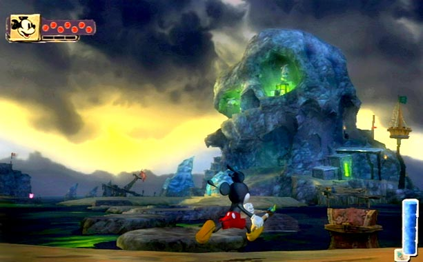 Epic Mickey   As magical as a fireworks display over Cinderella's Castle, this Mickey Mouse-starring adventure unfolds in an endlessly inspired, but somewhat skewed version of a Disney…