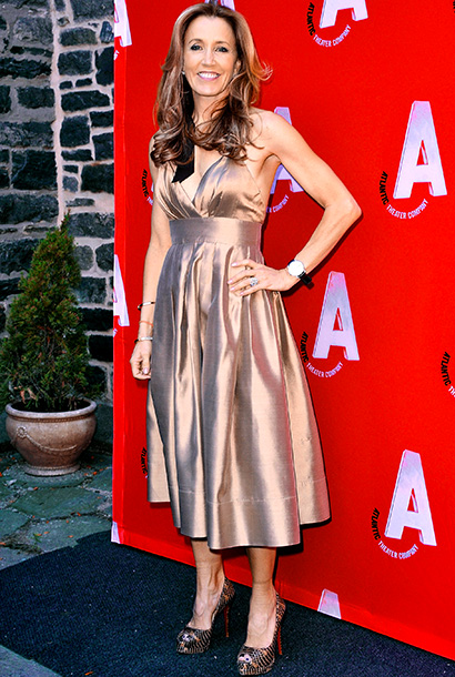 Felicity Huffman at the Atlantic Theater Company's grand re-opening of The Linda Gross Theater in New York City