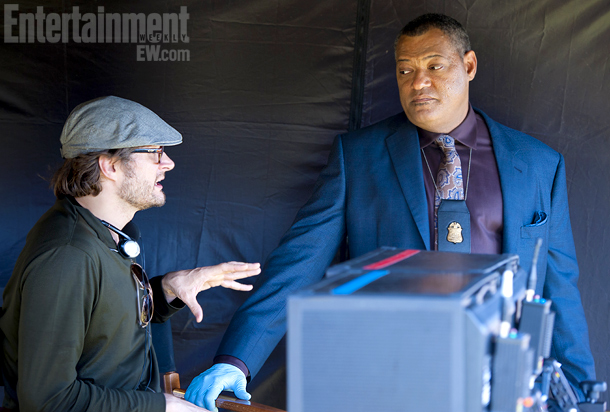 Writer-director Bryan Fuller and Laurence Fishburne as FBI Agent Jack Crawford