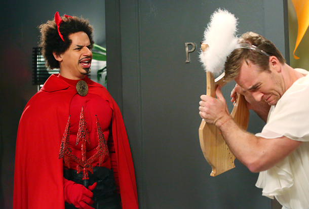 Don't Trust the B---- in Apartment 23 (10/30): Eric Andre as the Devil and James Van Der Beek as an angel