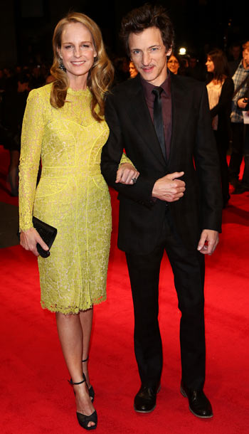 Helen Hunt and John Hawkes at the premiere of The Sessions during the 56th BFI London Film Festival