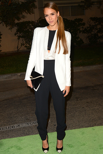 Jessica Alba (in Narciso Rodriguez) at the 2012 Environmental Media Awards in Los Angeles
