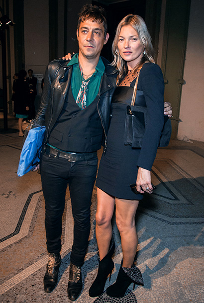 Jamie Hince and Kate Moss at the Saint Laurent Spring/Summer 2013 show at Paris Fashion Week