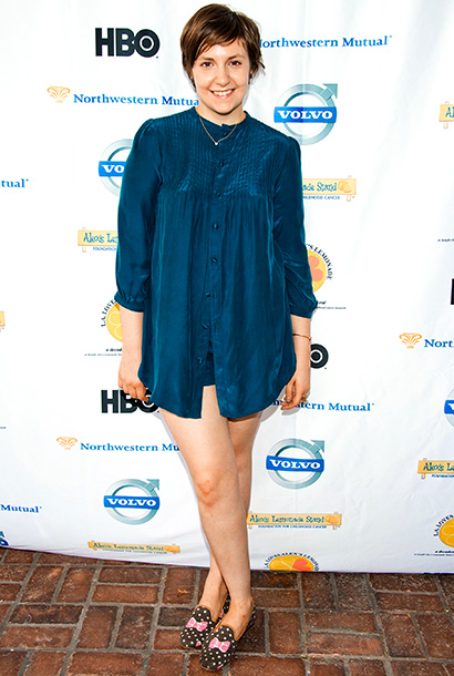 Lena Dunham at the 3rd Annual L.A. Loves Alex's Lemonade event in Los Angeles