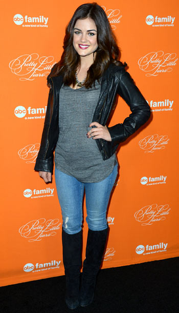 Lucy Hale at ABC Family's Pretty Little Liars Halloween episode premiere in Los Angeles