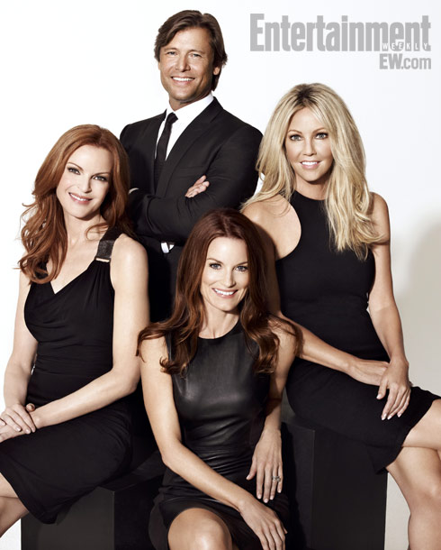 Grant Show, Marcia Cross, ... | Marcia Cross, Grant Show, Laura Leighton, and Heather Locklear ''I thought it was funny that when the apartment exploded there was a cell phone in…