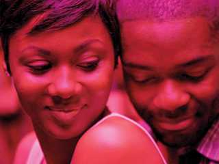 LOVE DON'T LIVE HERE Emayatzy Corinealdi and Omari Hardwick play a married couple separated by the husband's prison sentence